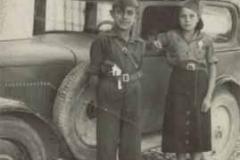 Año 1936. Taxi Fiat Balilla de Bóveda de Toro (Zamora).