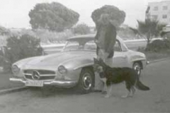 Año 1955. Mercedes 190 SL.