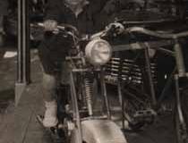 Año 1951. Moto de carrusel.