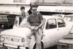 Año 1967. Seat 850 en Biarritz.