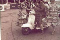 Año 1964. Turistas en Lambretta.