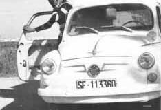 Año 1972. Novia y 600.